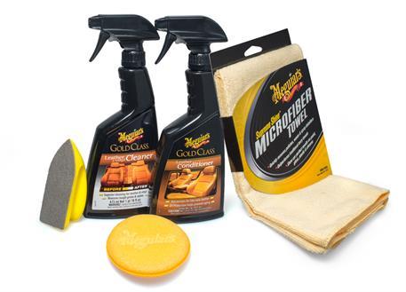 Automega Meguiar's Heavy Duty Leather Care Kit - kompletní sada na čištění a ochranu kožených povrchů