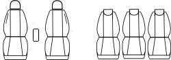 Automega Autopotahy Ford C-Max I, od r.2003-2010, 5 míst, Dynamic šedé