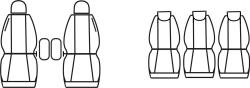 Automega Autopotahy RENAULT SCENIC II, od r. 2003-2009, 5 míst, Dynamic šedé