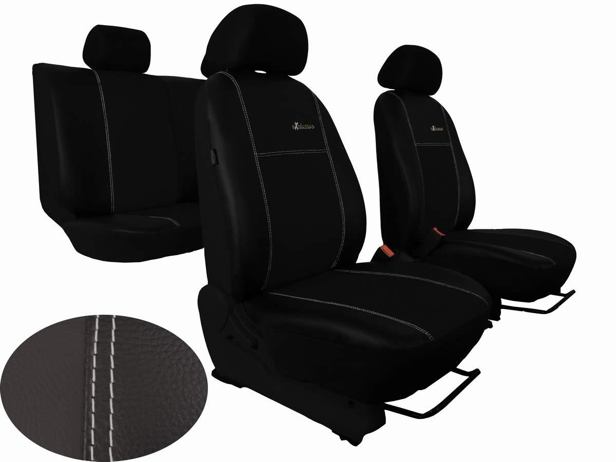 Automega Autopotahy Škoda Octavia III, kožené EXCLUSIVE, bez zadní loketní opěrky, černé