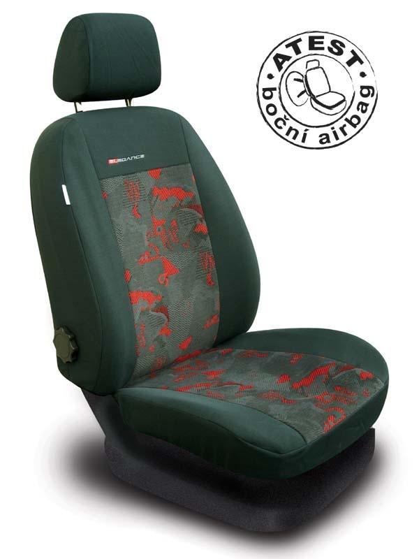 Automega Autopotahy Škoda Octavia I, dělená, zadní loketní opěrka, červené