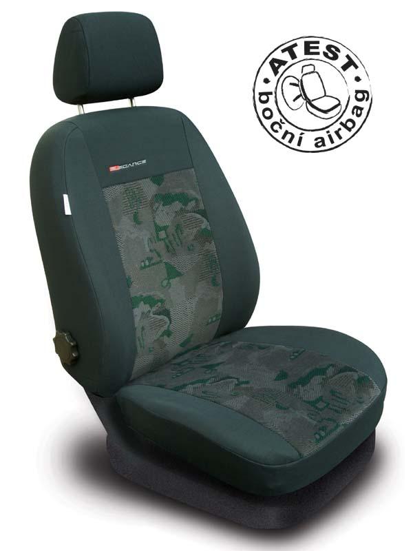 Automega Autopotahy Škoda Roomster, 5 míst, zelené