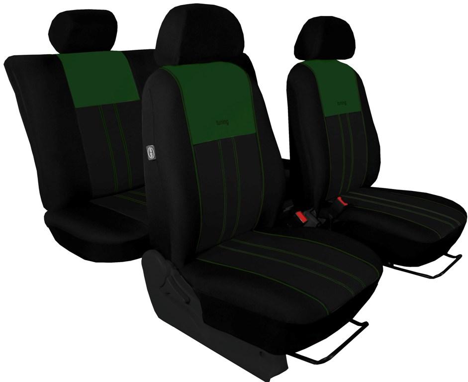 Automega Autopotahy Škoda Octavia III, Tuning Duo, bez zadní loketní opěrky, zelenočerné