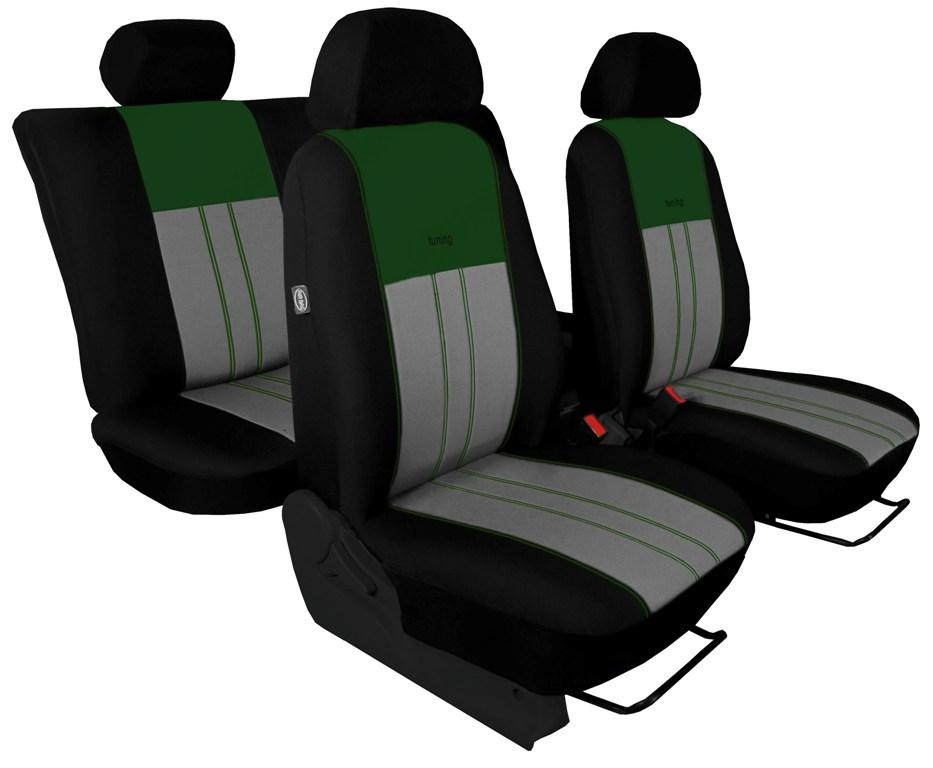 Automega Autopotahy Škoda Octavia III, Tuning Duo, bez zadní loketní opěrky, zelenošedé