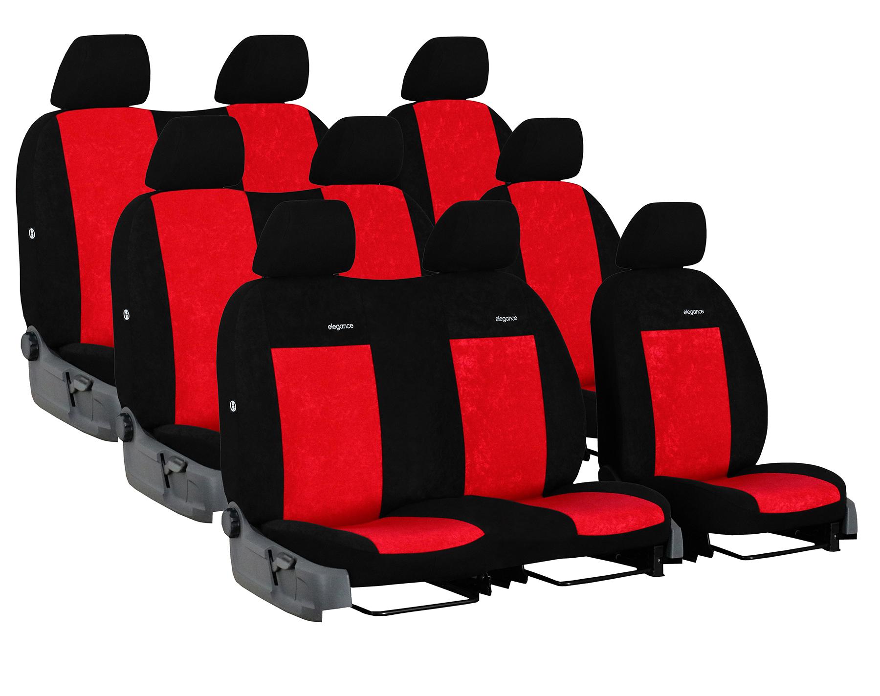 Automega Autopotahy FORD TRANSIT VII, 9 míst, DĚLENÁ ZADNÍ OPĚRADLA, od r. 2014, Elegance červené