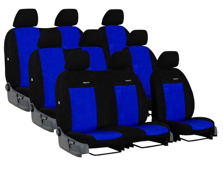 Automega Autopotahy FORD TRANSIT VII, 9 míst, DĚLENÁ ZADNÍ OPĚRADLA, od r. 2014, Elegance modré