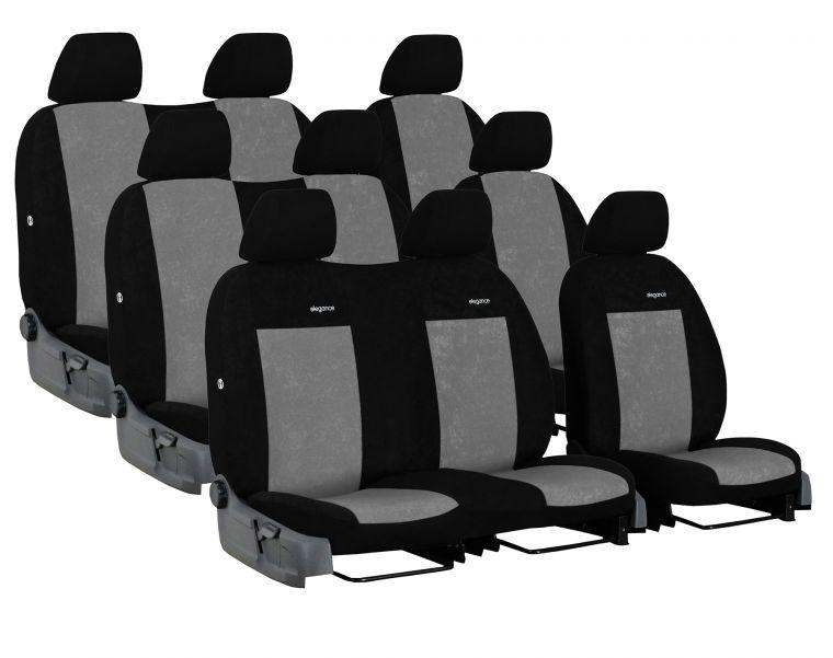 Automega Autopotahy FORD TRANSIT VII, 9 míst, DĚLENÁ ZADNÍ OPĚRADLA, od r. 2014, Elegance šedé