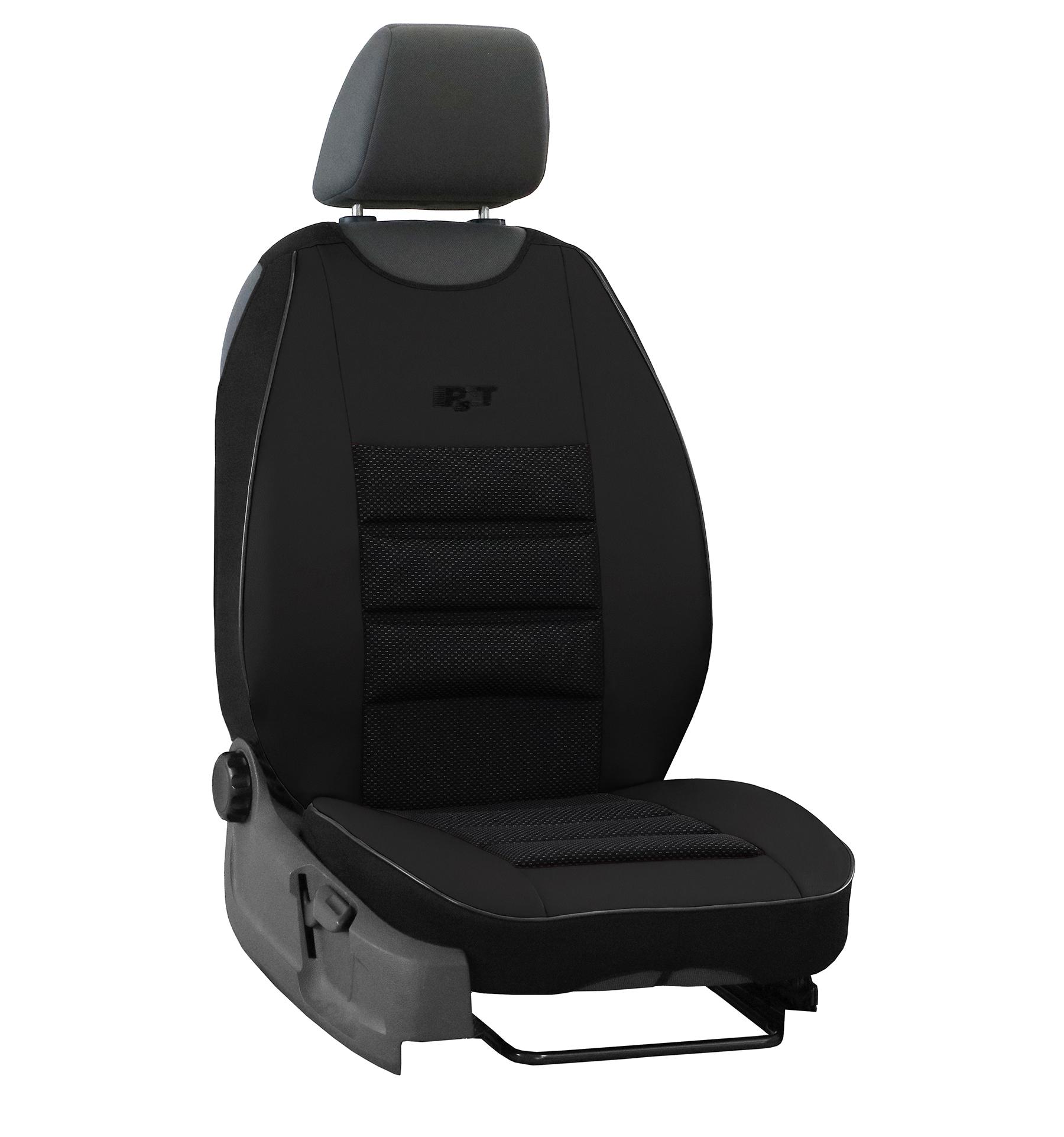 Automega Ergonomický potah na 1 sedadlo ERGONOMIC LEATHER, černý