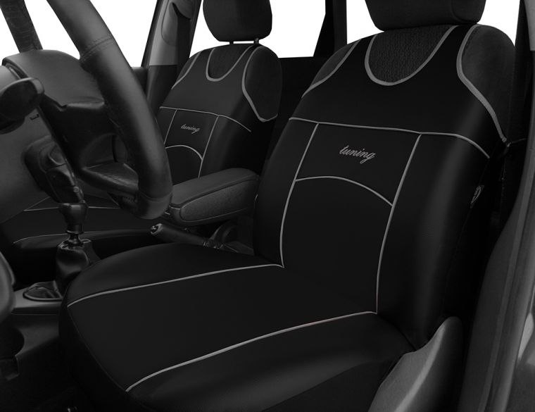 Automega Autopotahy Autopotahy TUNING EXTREME KOŽENÉ, sada pro dvě sedadla, černé