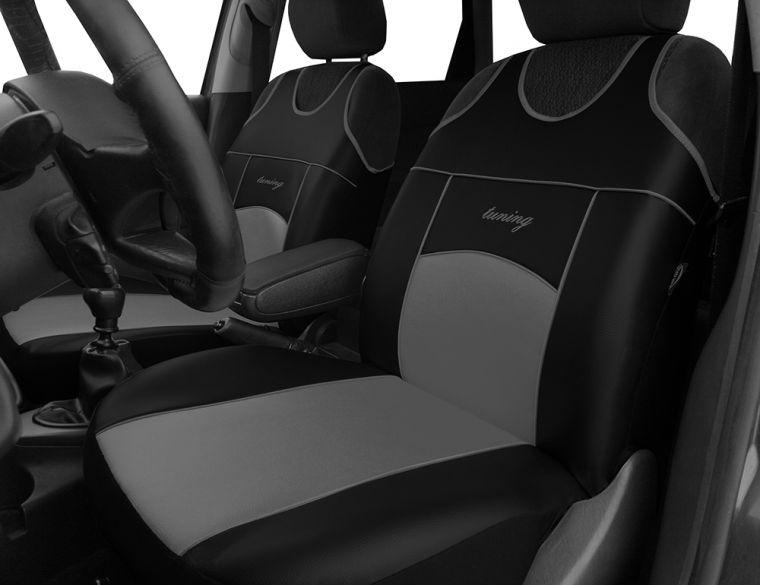 Automega Autopotahy Autopotahy TUNING EXTREME KOŽENÉ, sada pro dvě sedadla, šedé