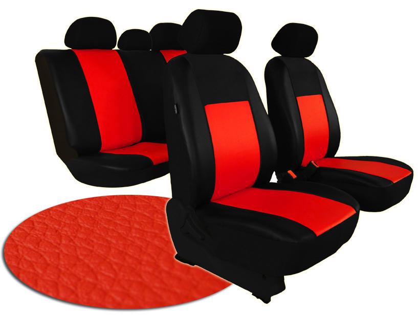 Automega Autopotahy ŠKODA RAPID, integrované přední opěrky hlavy, PELLE červené