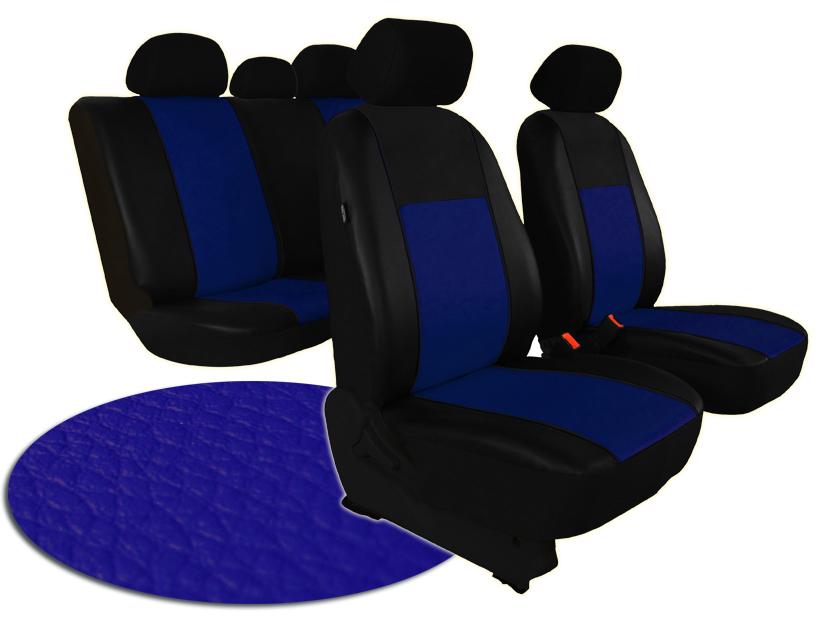 Automega Autopotahy ŠKODA RAPID, integrované přední opěrky hlavy, PELLE modré