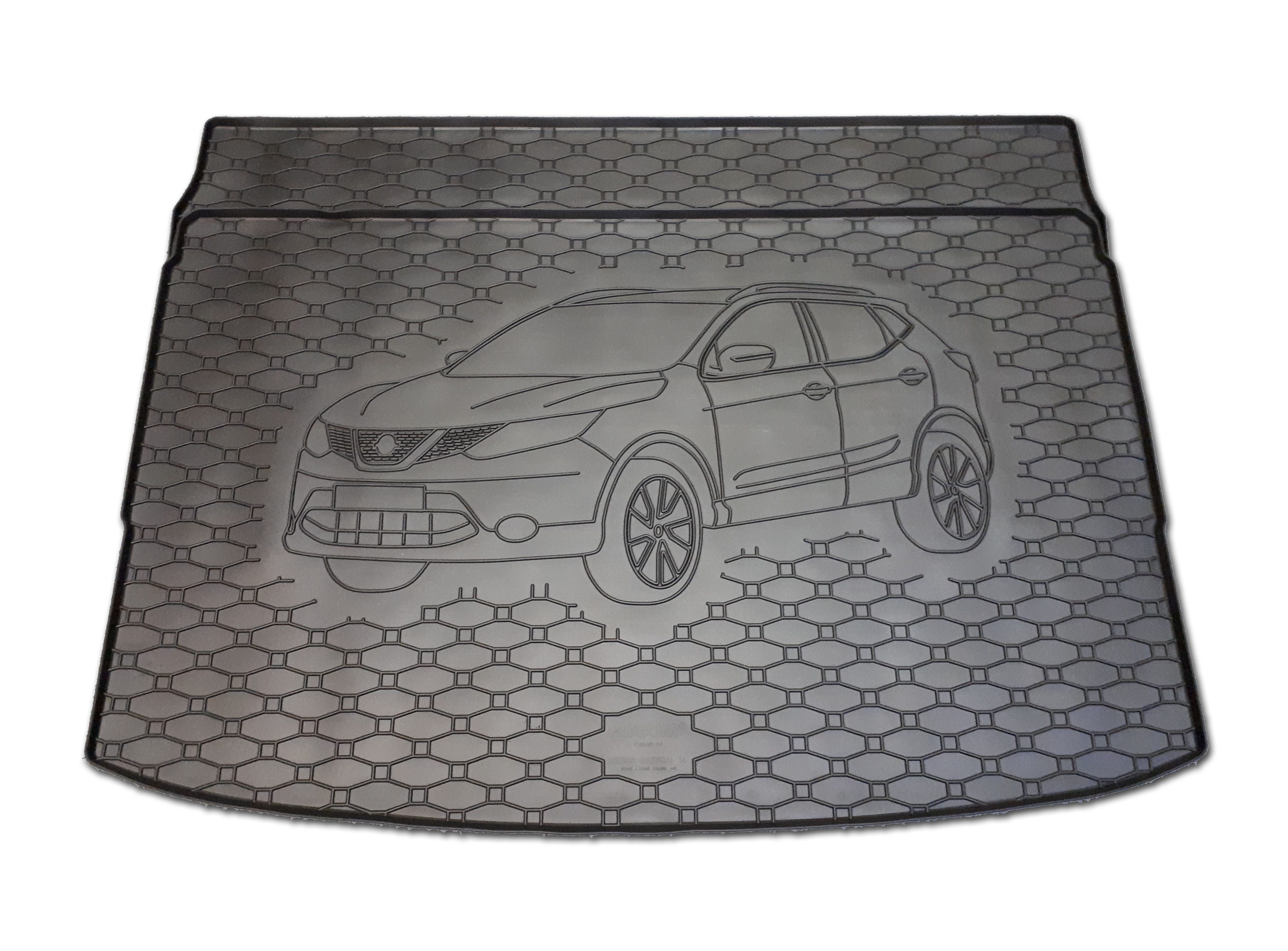 Automega Vana do kufru gumová RIGUM Nissan Qashqai 2014- horní i dolní poloha