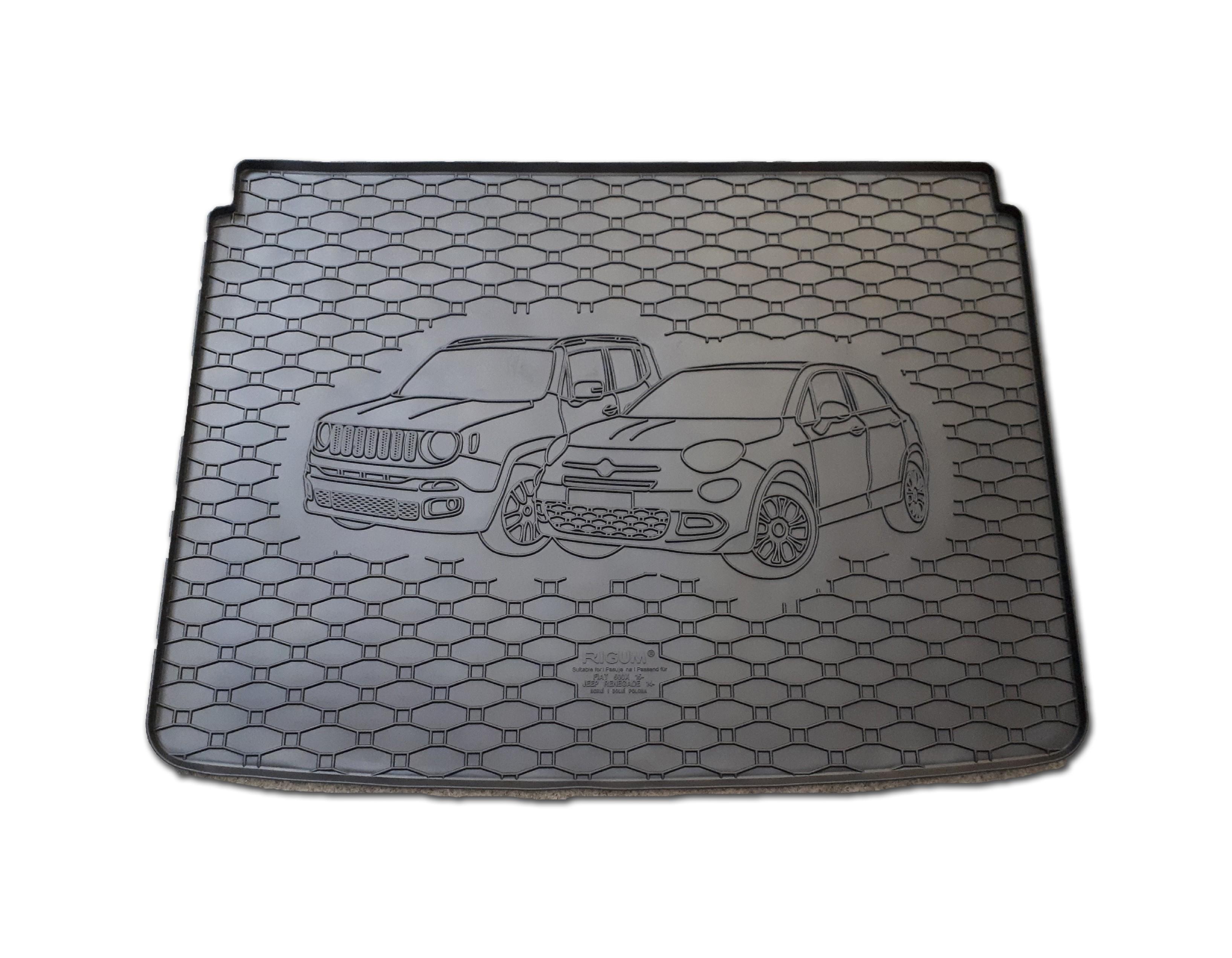 Automega Vana do kufru gumová RIGUM Fiat 500X 2015- horní i dolní poloha