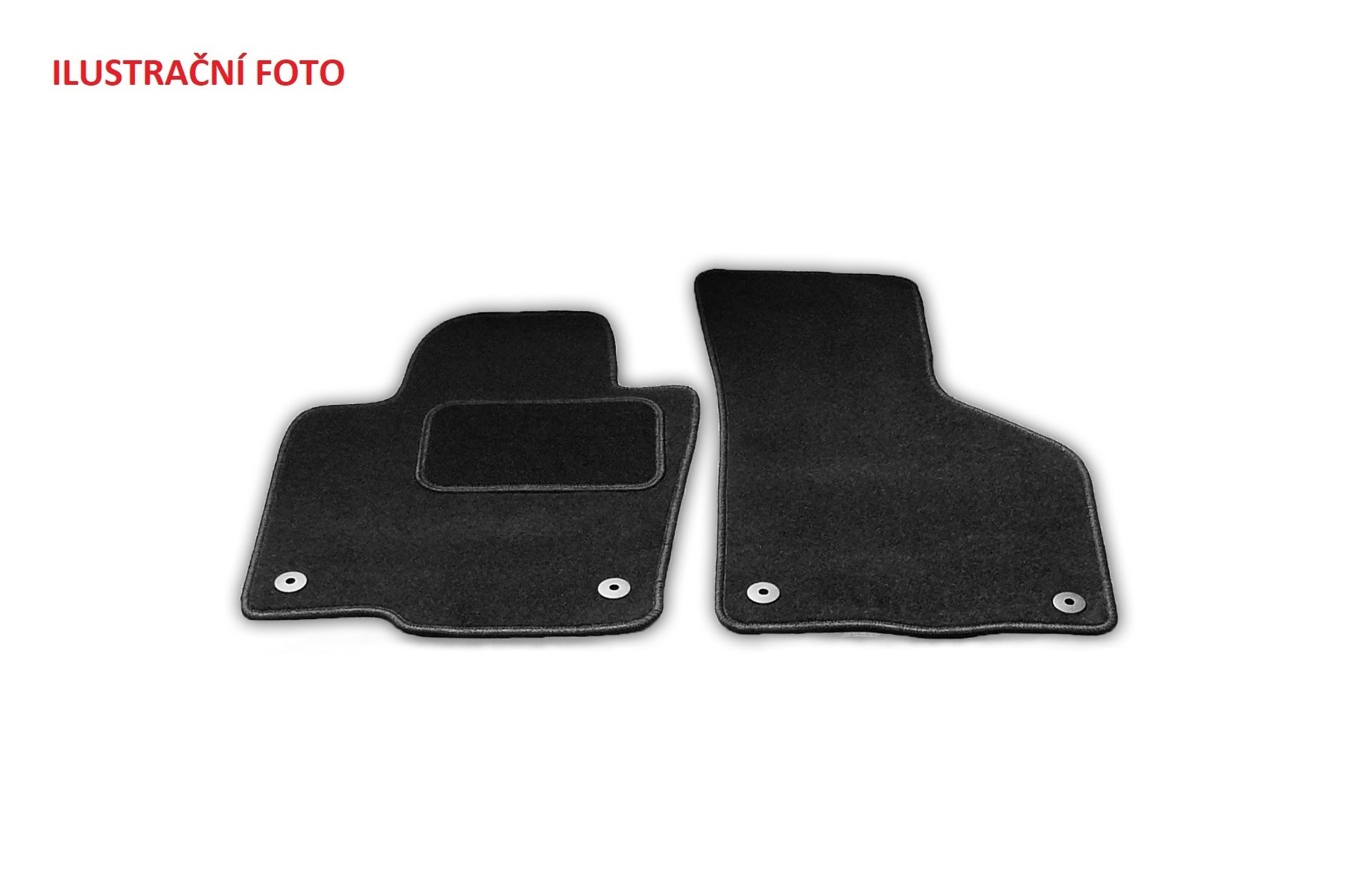 Automega Textilní autokoberce Standard Ford Transit / Tourneo Custom 2/3m 2018- AUTOMAT