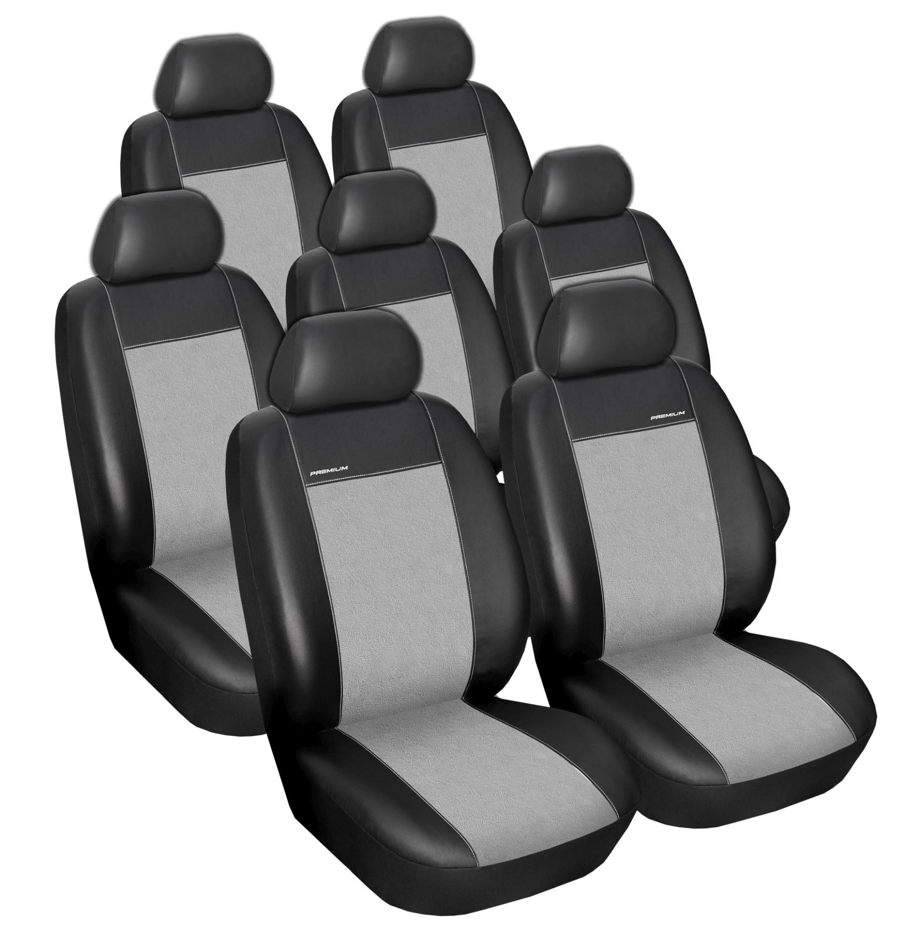 Automega Autopotahy SEAT ALHAMBRA II, od r. 2010, 7 míst, Eko kůže šedé