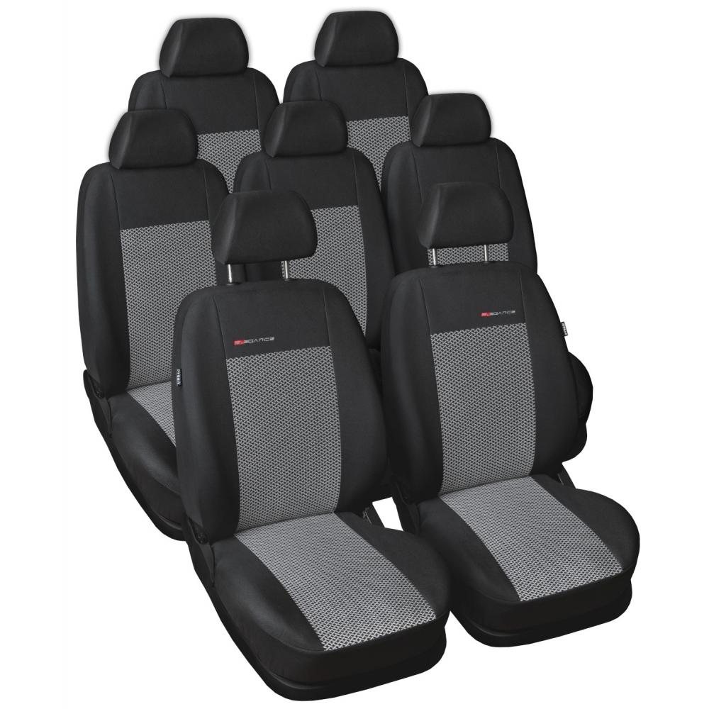 Automega Autopotahy Seat Alhambra II, od r. 2010, 7 míst, dětská sedačka, šedo černé